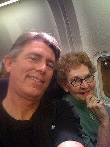 Me and Mom on Plane