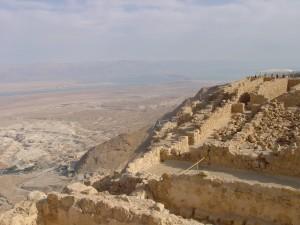 Massada with Salt Sea in Background