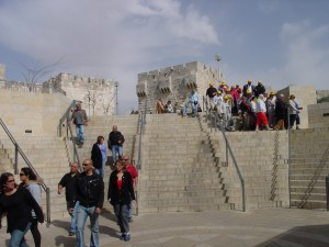 Steps from Mall to Joffa Gate